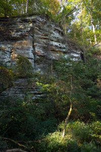 Sandstone bluffs at Bluffs of Beaver Bend