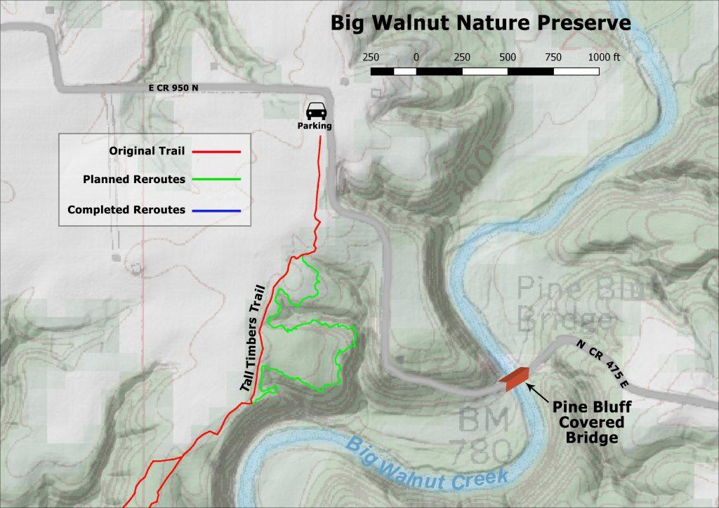 Big Walnut planned reroute.