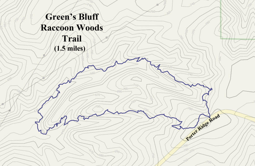 Raccoon Woods Trail map