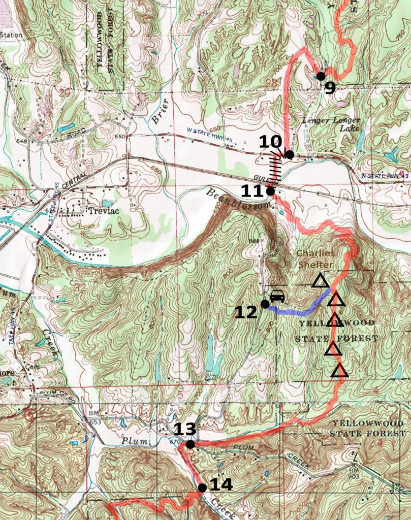 TT Indian Hill Rd Closed Map